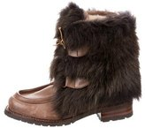 AERIN Shearling Ankle Boots w/ Tags