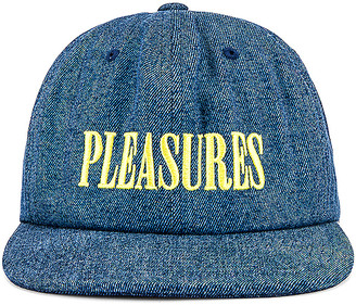 Pleasures Core Logo Denim Snapback.