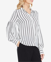 Vince Camuto Striped Puffy-Sleeve Shirt