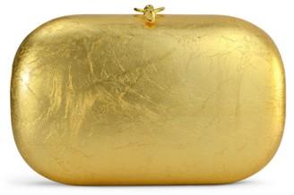 JEFFREY LEVINSON Elina Plus 18K Gold Leaf Clutch