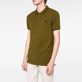 Paul Smith Men's Slim-Fit Khaki PS Logo Organic-Cotton Polo Shirt