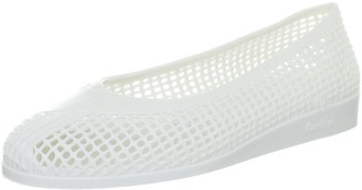 Fashy Women's 7152 10 Ballerina Slipper - White Size 41