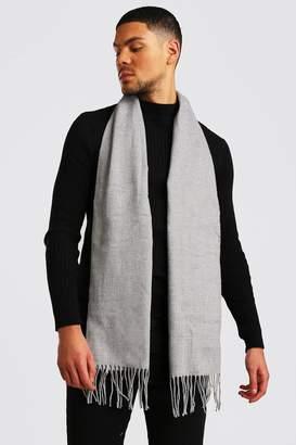 boohoo Plain Knitted Tassel Scarf