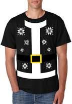 Allntrends Men's T Shirt Santa Claus Suit Ugly Christmas Sweater (XL, )
