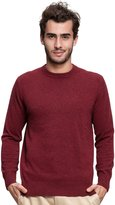 Spring Air SpringAir Men's 100% Cashmere Slim-Fit Long Sleeve Crewneck Pullover Sweater