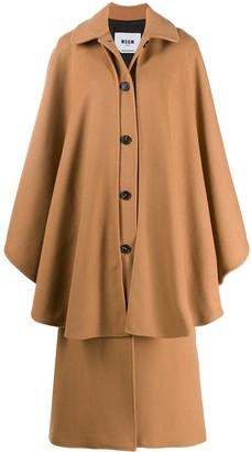 MSGM Draped Long Coat