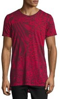 Diesel Marcuso Mixed Animal-Print T-Shirt, Red