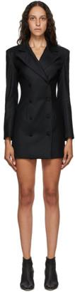MATÉRIEL SSENSE Exclusive Black Wool Blazer Dress