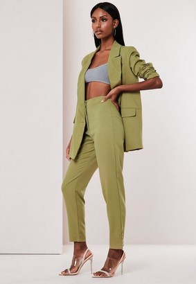 Missguided Co Ord Button Detail Cigarette Trousers