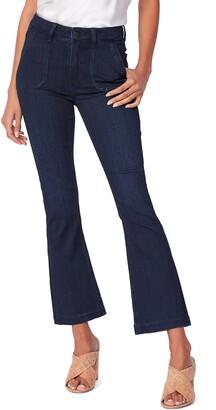 Paige Transcend Claudine Patch Pocket High Waist Ankle Flare Jeans