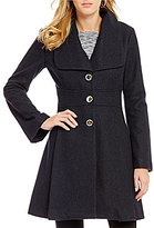 Jessica Simpson Wool Single Breasted Tabbed Waist Walker Coat