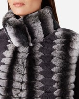 N.Peal Rex Rabbit Fur Patterned Gilet
