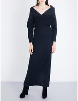 Chalayan Off-the-shoulder wool gown