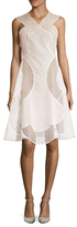 Stella McCartney Cotton Embroidered Fit And Flare Dress