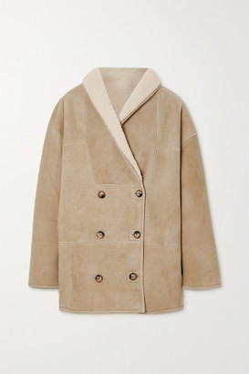 LOULOU STUDIO Oversized Shearling Coat - Cream