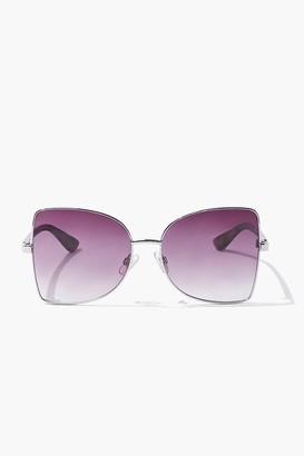 Forever 21 Square Leopard Print Sunglasses
