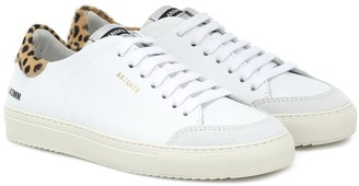 Axel Arigato Clean 90 Triple calf hair-trimmed sneakers