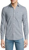 Original Penguin Striped Chambray Long-Sleeve Shirt, Gray