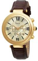 Freelook Men's HA1136CHG-3 Cortina Gold and Brown Leather Chronograph Watch