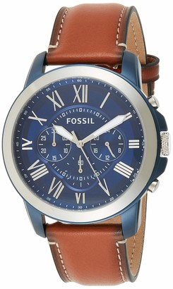 Fossil Men's Grant Quartz Stainless Chronograph Watch