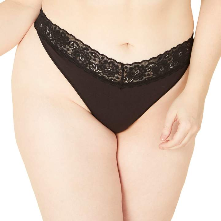 Cosabella Amore Plus Size Amore Adore Lace-Trim Thong Panty ADORE0341P