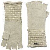 Calvin Klein Women's Brick Stitch Fingerless Gloves
