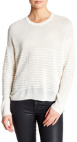 Inhabit Crew Neck Long Sleeve Ruffle Sweater