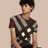 Burberry Abstract Check Cotton T-shirt