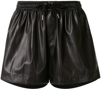 Karen Walker Maple faux-leather shorts