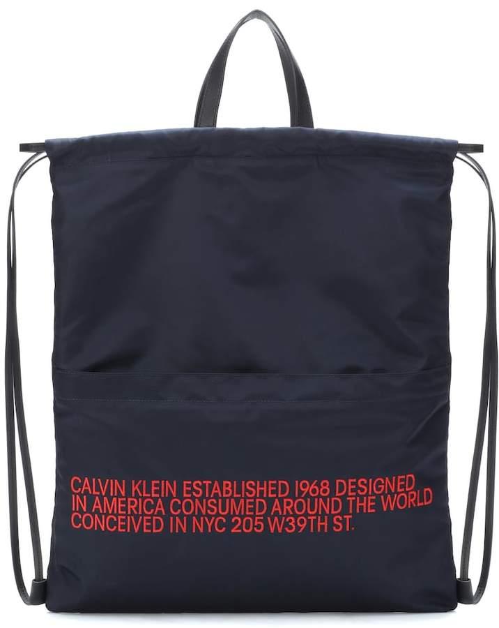 Calvin Klein Logo embroidered backpack