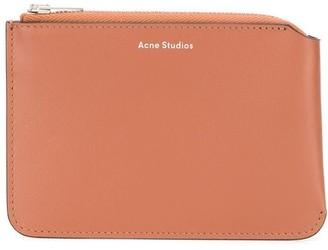 Acne Studios Logo-Print Zip-Up Wallet