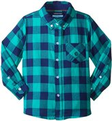 Andy & Evan Buffalo Check Flannel Shirt (Toddler/Kid) - Green - 5 Years