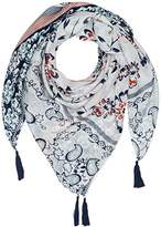 Womens Scarf w Tweety and Sylvester Shawl, Mehrfarbig (Rosy 1408), One Size Frog Box
