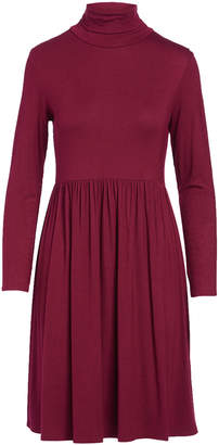 Bella Flore Women's Casual Dresses BURGUNDY - Burgundy Long-Sleeve Turtle Neck Dress - Women & Plus