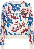 Etro Floral Print Logo Sweatshirt