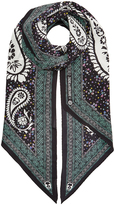 Zadig & Voltaire Silk Paisley Print Scarf