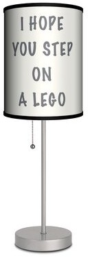 """Ebern Designs Lego Wishes 20"""" Table Lamp"""