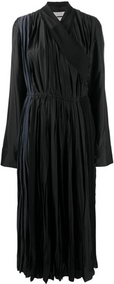 Jil Sander Pleated Ankle-Length Dress