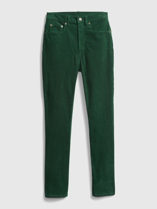 Gap High Rise Cigarette Cords with Secret Smoothing Pockets