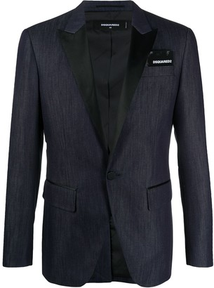 DSQUARED2 Contrasting Lapel Denim Blazer