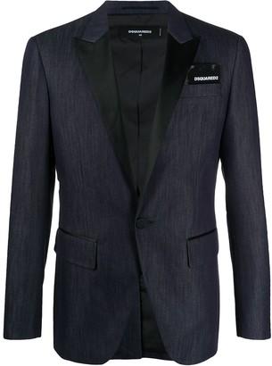 DSQUARED2 contrasting lapel denim blazer