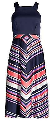 Trina Turk Women's Arvida Halter Chevron Stripe Dress