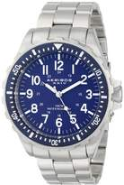 Akribos XXIV Men's AK689BU Essential Quartz Dial Stainless Steel Bracelet Watch