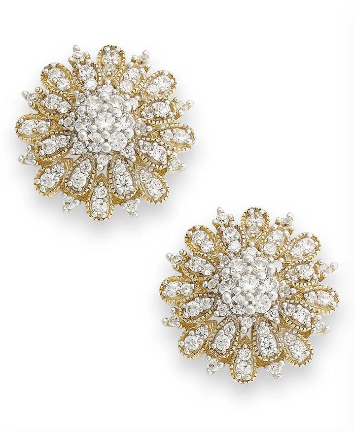 YellOraTM Diamond Flower Stud Earrings in YellOraTM (1 ct. t.w.)