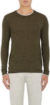 Barneys New York Men's Layered-Detail Cashmere Sweater-DARK GREEN