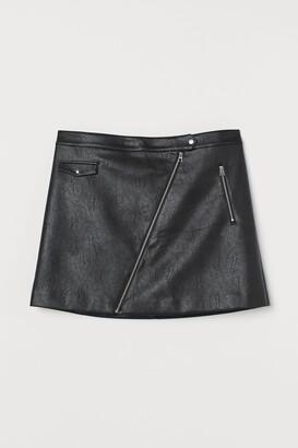 H&M H&M+ Imitation leather skirt