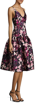 Romance Was Born Bubble Princess Silk-Blend A-Line Dress