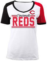 5th & Ocean Women's Cincinnati Reds Cb Sleeve T-Shirt