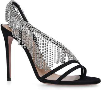 Aquazzura Wild Crystal Sandals 105