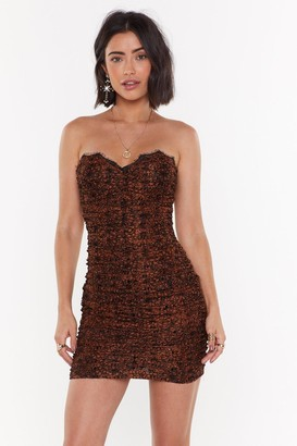Nasty Gal Womens Let's Misbehave Lace Mini Dress - Copper